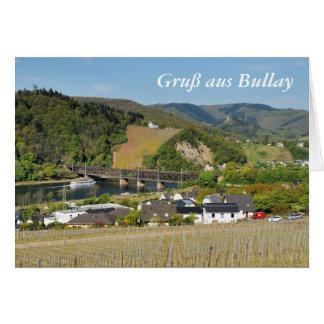 Moselle bridge with Bullay Card