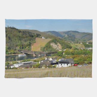 Moselle bridge with Bullay Kitchen Towel