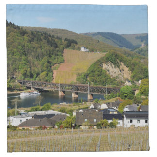Moselle bridge with Bullay Napkin