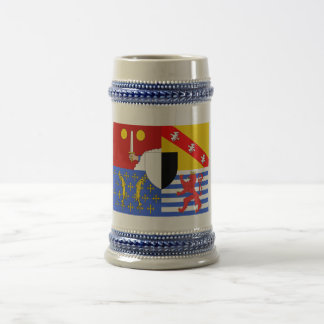 Moselle flag beer stein