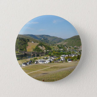 Moselle valley with Bullay 2 Inch Round Button