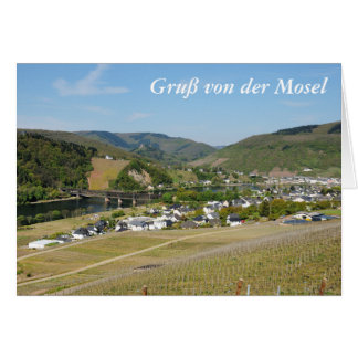 Moselle valley with Bullay Card