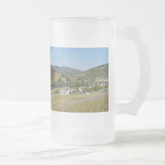 Moselle valley with Bullay Frosted Glass Beer Mug