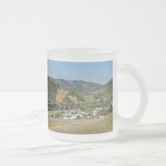 Moselle valley with Bullay Frosted Glass Coffee Mug