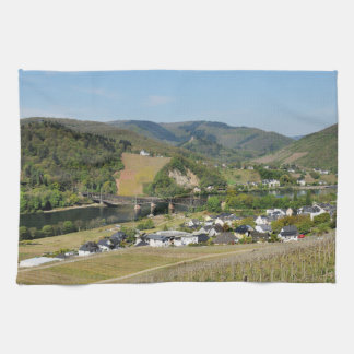 Moselle valley with Bullay Hand Towels