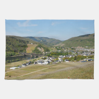 Moselle valley with Bullay Kitchen Towel