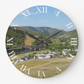 Moselle valley with Bullay Large Clock