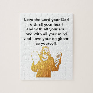 Moses - 10 Commandments - Greatest Commandment Jigsaw Puzzle