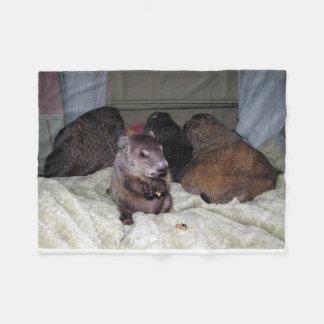 Moses and Girls Groundhog Fleece Blanket
