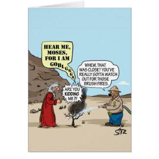 Moses and Smokey Bear greeting card