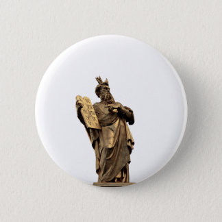 moses and ten commandments golden 2 inch round button