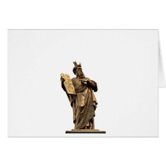 moses and ten commandments golden card