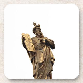 moses and ten commandments golden coaster