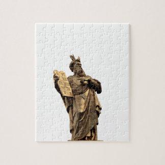 moses and ten commandments golden jigsaw puzzle