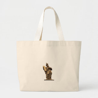moses and ten commandments golden large tote bag