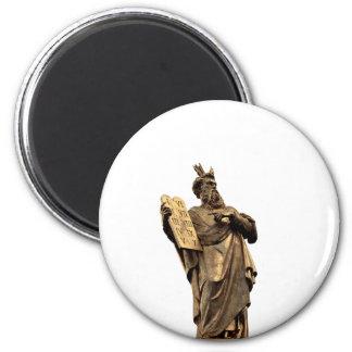 moses and ten commandments golden magnet