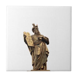 moses and ten commandments golden tile