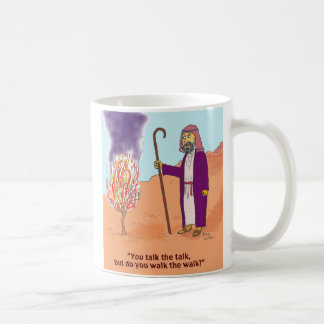 Moses and the burning bush coffee mug