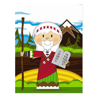Moses and the Ten Commandments Postcard