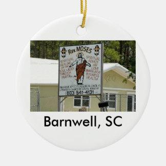moses, Barnwell. SC Ceramic Ornament