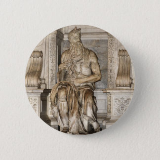 Moses by Michelangelo ,Roma 2 Inch Round Button
