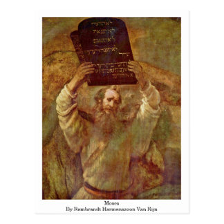 Moses By Rembrandt Harmenszoon Van Rijn Postcard