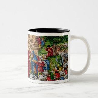 Moses crossing the Red Sea Two-Tone Coffee Mug