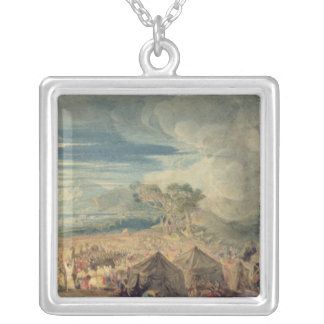 Moses dividing the waters of the Red Sea Silver Plated Necklace