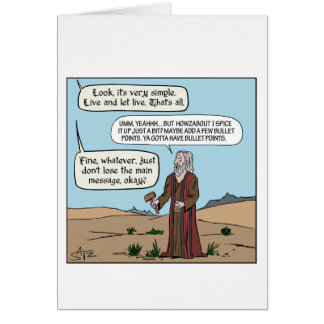 Moses getting the commandments. card