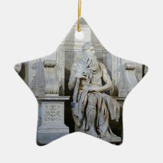 Moses (Michelangelo) Ceramic Star Ornament