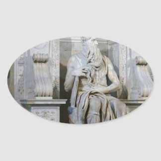 Moses (Michelangelo) Oval Sticker