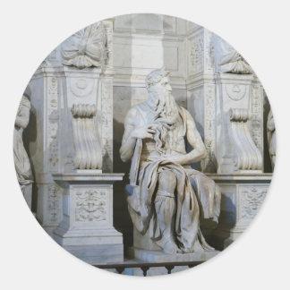 Moses (Michelangelo) Round Sticker