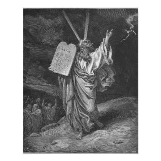 Moses on Mount Sinai Poster