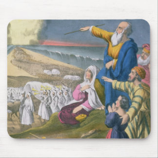 Moses Parting the Red Sea, from a bible printed by Mouse Pad