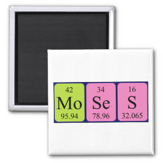 Moses periodic table name magnet