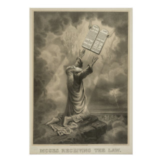 Moses Receiving the Law The Ten Commandments Poster