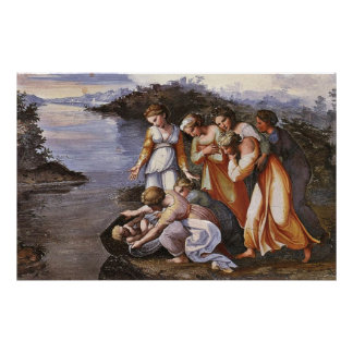 Moses Saved from the Water Canvas Print
