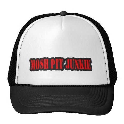 MOSH PIT JUNKIE guys girls punk rock mosh pit Trucker Hat