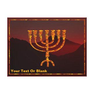 Moshe's Menorah Canvas Print