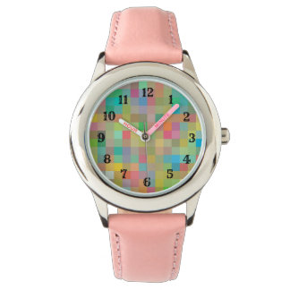 Mosiac Pink Band Children's Watch