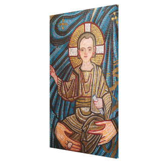 Mosic Of Baby Jesus Canvas Print