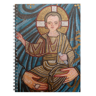 Mosic Of Baby Jesus Notebook