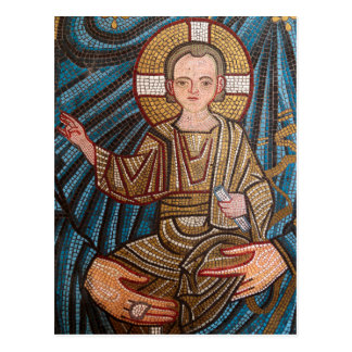 Mosic Of Baby Jesus Postcard