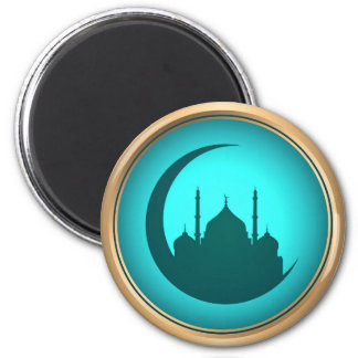 Mosque background Round Magnet