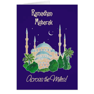Mosque by Moonlight 'Across the Miles Ramadan Card