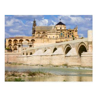 Mosque Cathedral and Roman Bridge in Cordoba Postcard