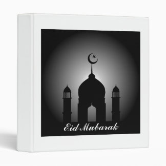 Mosque dome and minaret silhouette binder