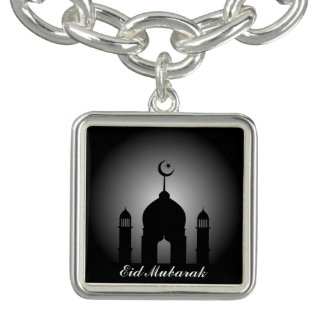 Mosque dome and minaret silhouette bracelet