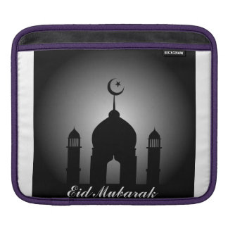 Mosque dome and minaret silhouette iPad sleeve
