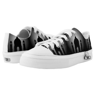 Mosque dome and minaret silhouette Low-Top sneakers